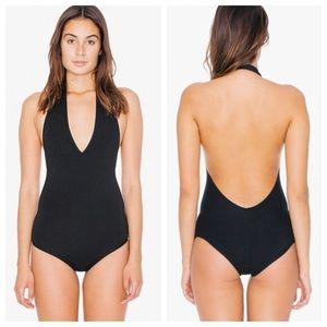 American apparel black low back bodysuit